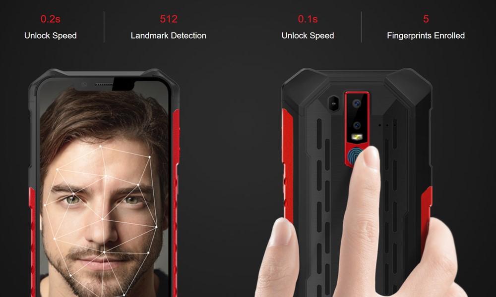 Ulefone Armor 6Eは指紋認証以外に顔認証にも対応しています。