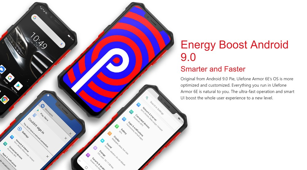 Ulefone Armor 6EはAndroid 9を搭載