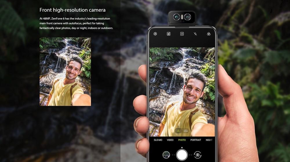 ZenFone 6は自撮りもメインカメラで撮影出来るので超高画質で撮影できます。