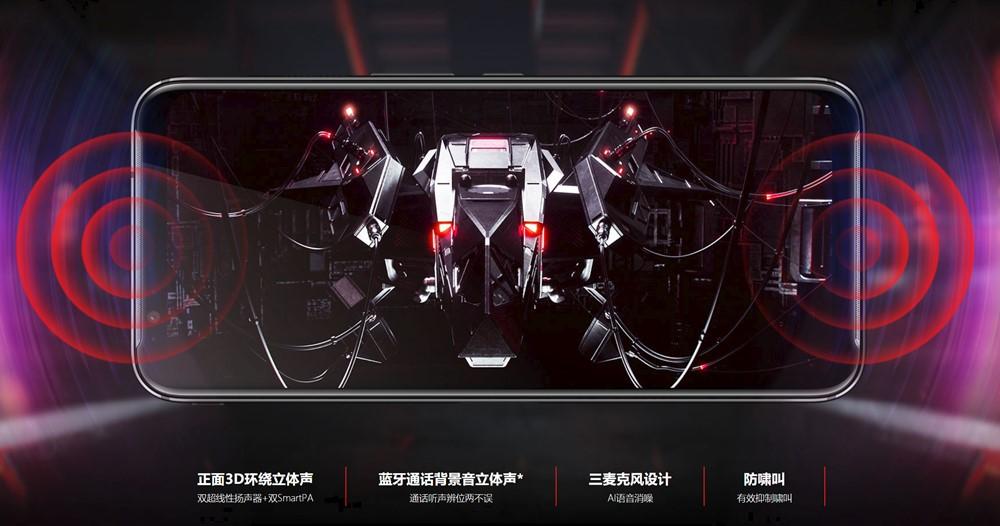 nubia Red Magic 3は3Dサラウンド対応のDualスピーカーシステムを搭載。