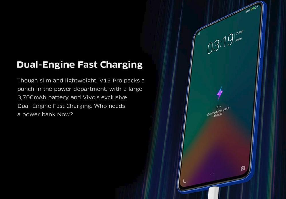 vivo V15 Proはバッテリー容量3700mAh