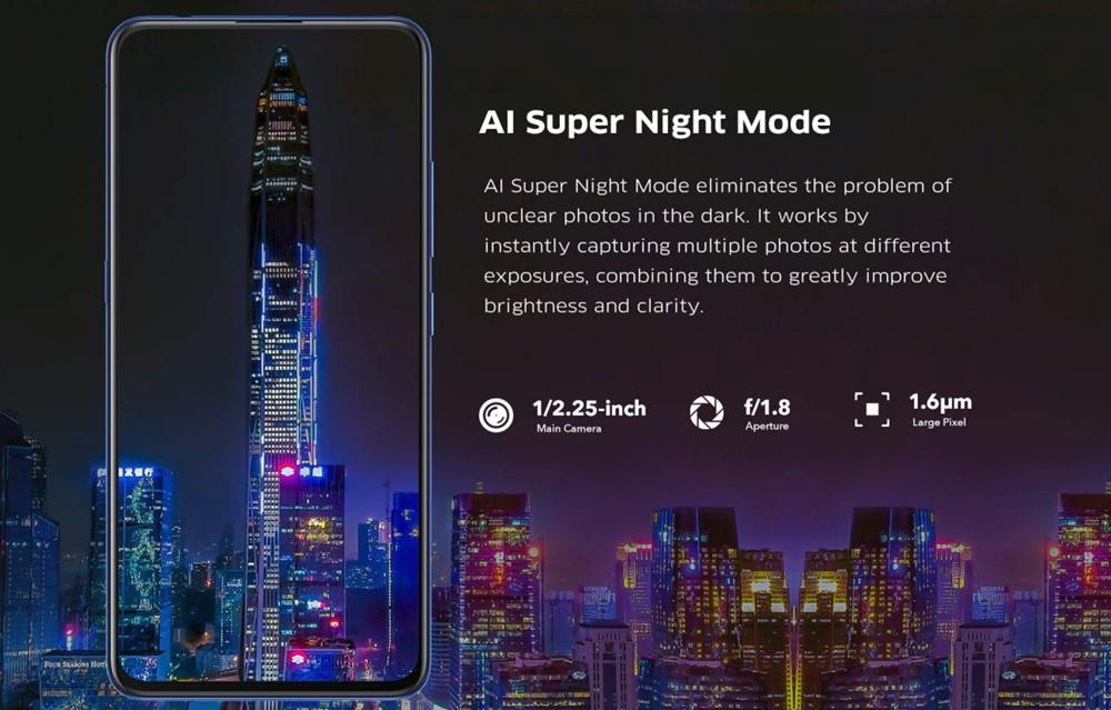 vivo V15 Proは夜景シーンに強いです。