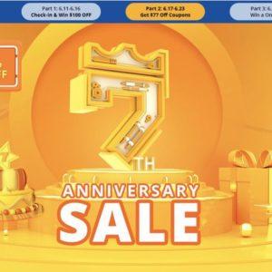 Geekbuyingが7周年を祝う大セールを開始