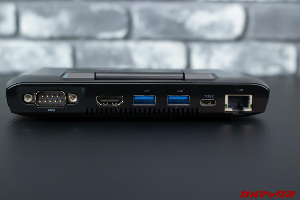 GPD MicroPCは本体背面に様々な拡張端子を搭載しています。