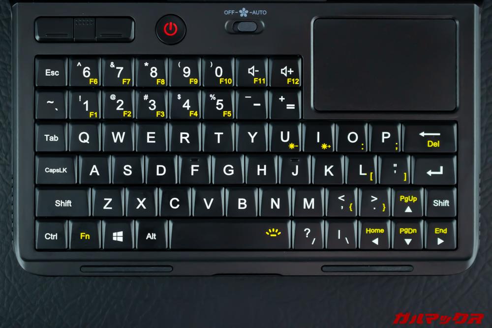 GPD MicroPCは小型ながらフルキーボードを備えています。