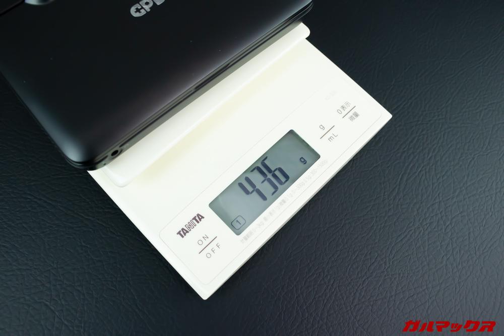 GPD MicroPCは重量436gで軽量です。