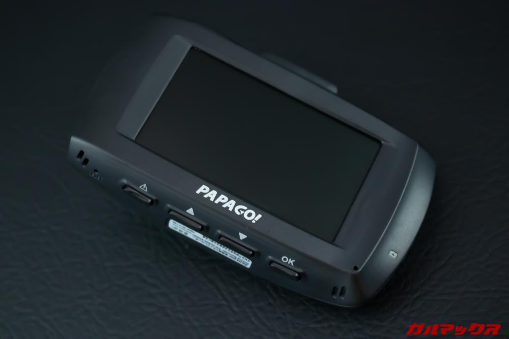 GoSafe S70GS1は2.7型の大型ディスプレイを搭載。