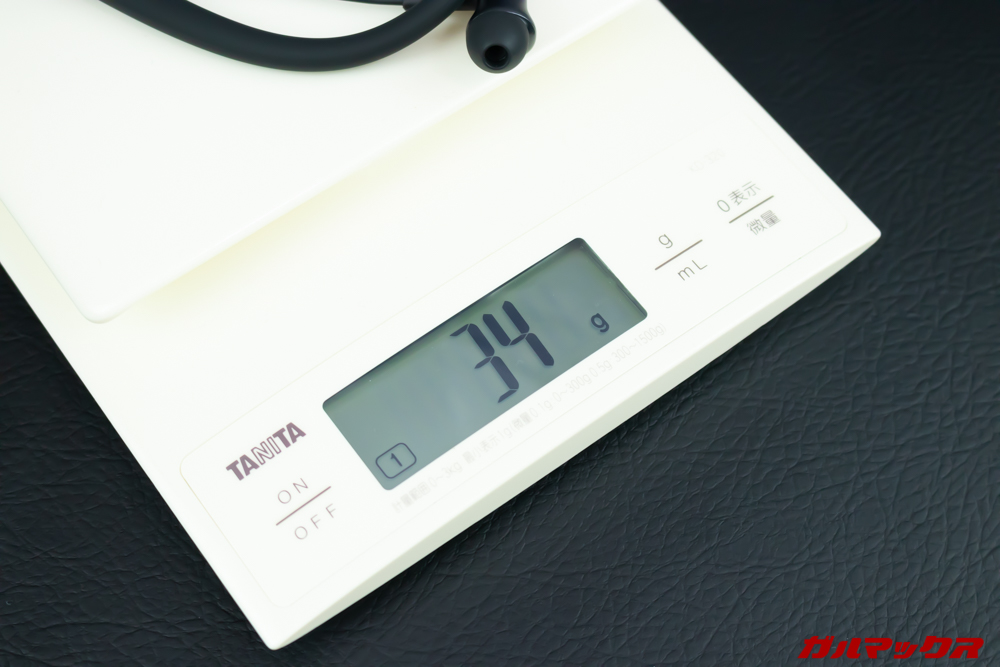 UMIDIGI Ubeatsの重量は実物で34gでした。