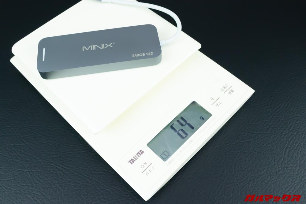 MINIX NEOの重量は64g