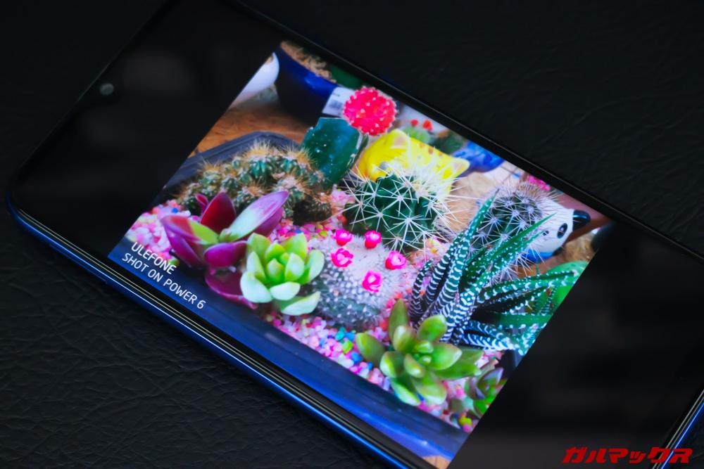 UleFone Power 6のディスプレイはFHD+を採用しているので綺麗。