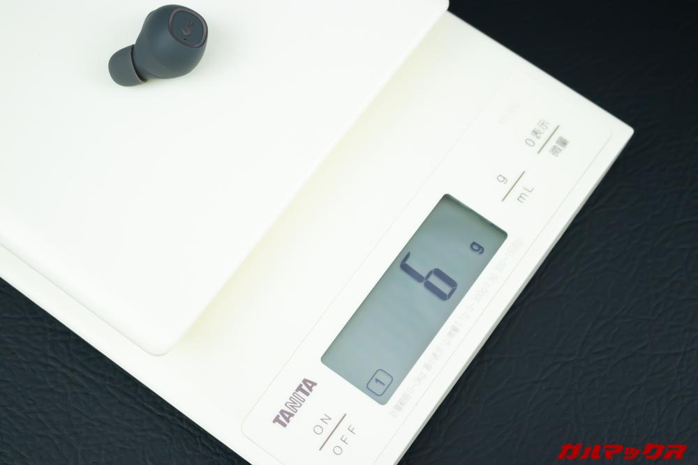 AUKEY Key Series EP-T10の重量はピースやフックを含めると約6g