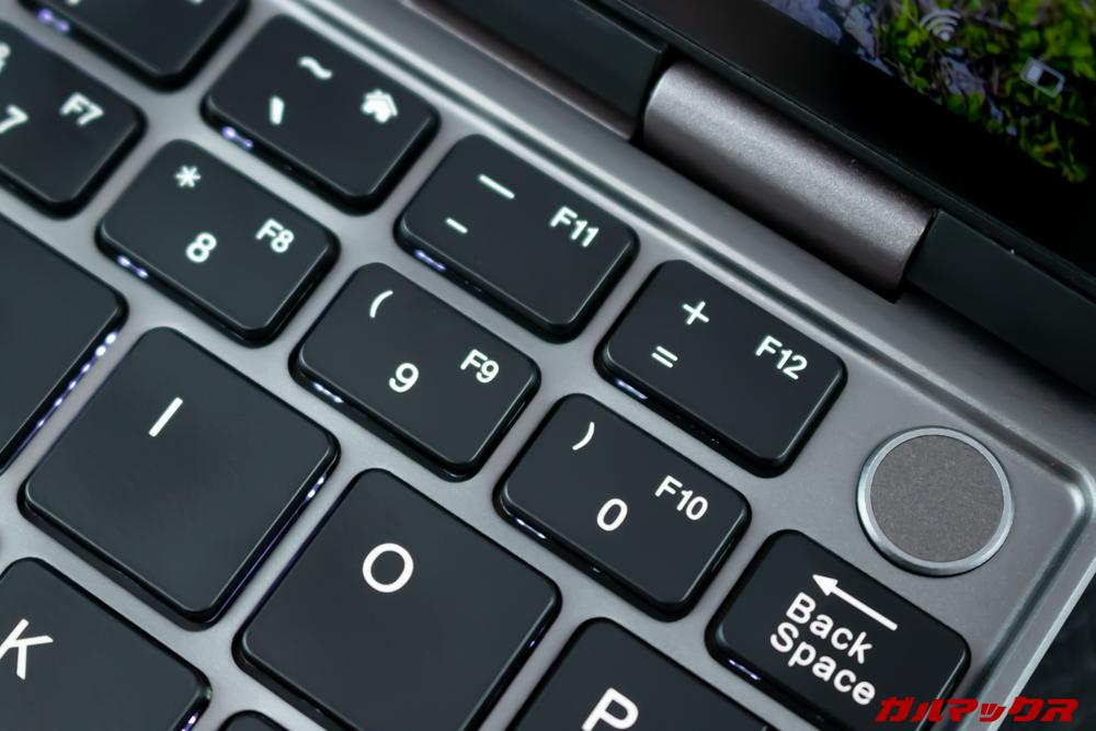 MiniBookのキー配置は特殊