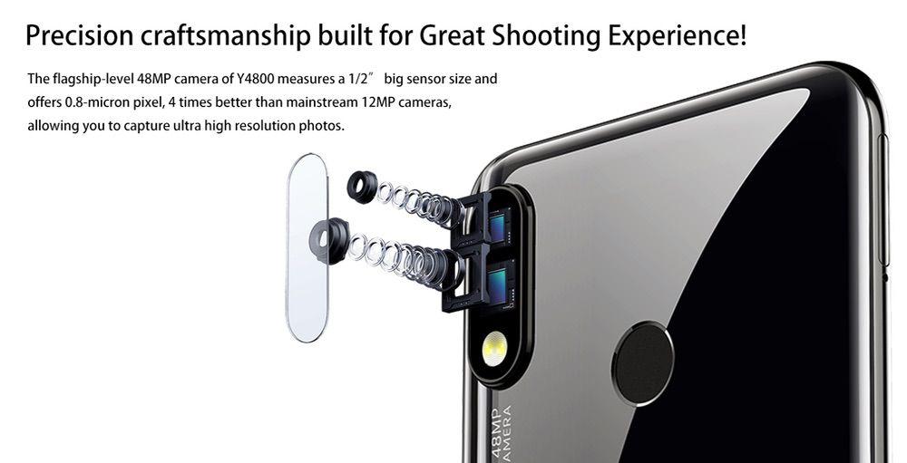 OUKITEL Y4800は4800万画素を含むデュアルカメラを搭載。