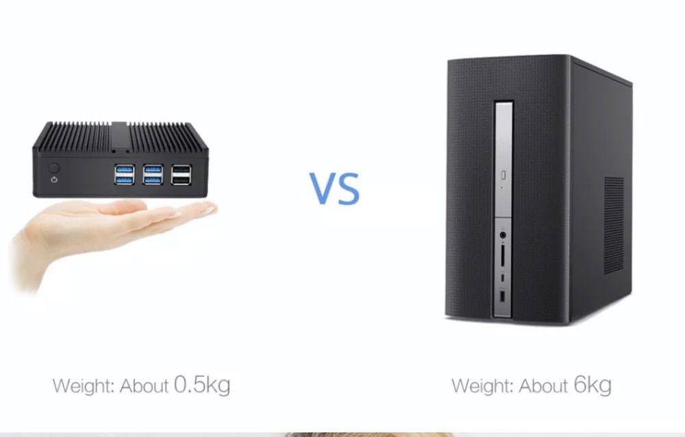 XCY X30 Mini PCは手のひらサイズのコンパクトな筐体サイズ。