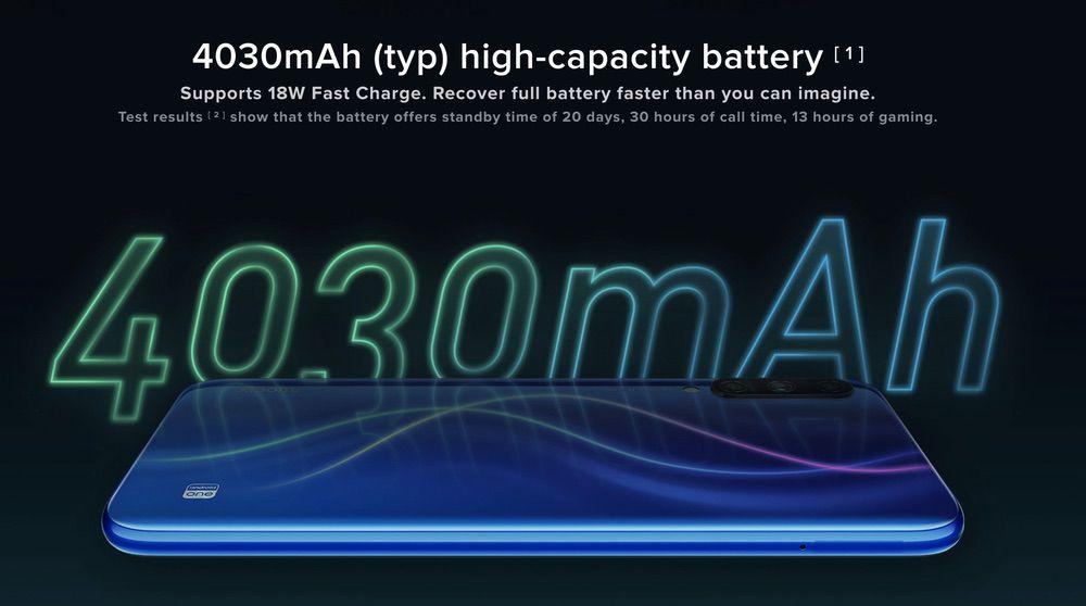 Xiaomi Mi A3は大容量バッテリーを搭載。超急速充電にも対応しています。