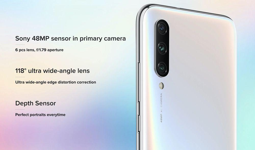 Xiaomi Mi A3はトリプルカメラを搭載。