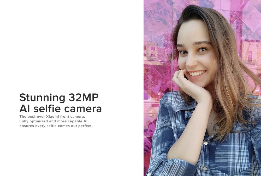 Xiaomi Mi A3はインカメラも3200万画素を採用しています。