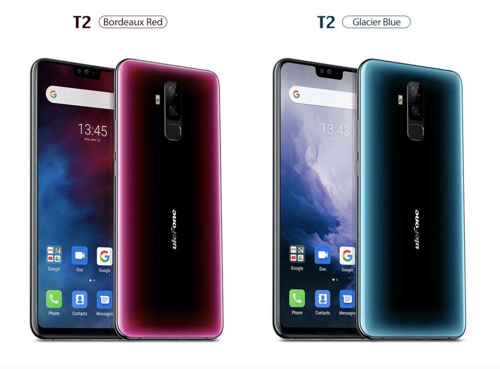 Ulefone T2はレッド系とブルー系の2色から選択可能です!