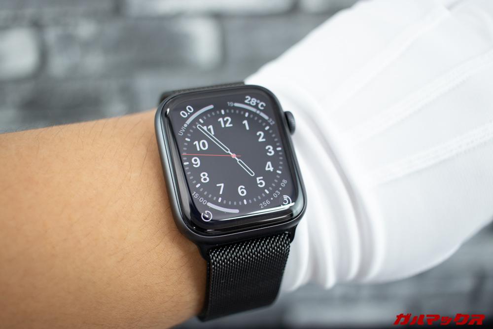 Apple Watch Series 5で通常表示だと秒針が表示される