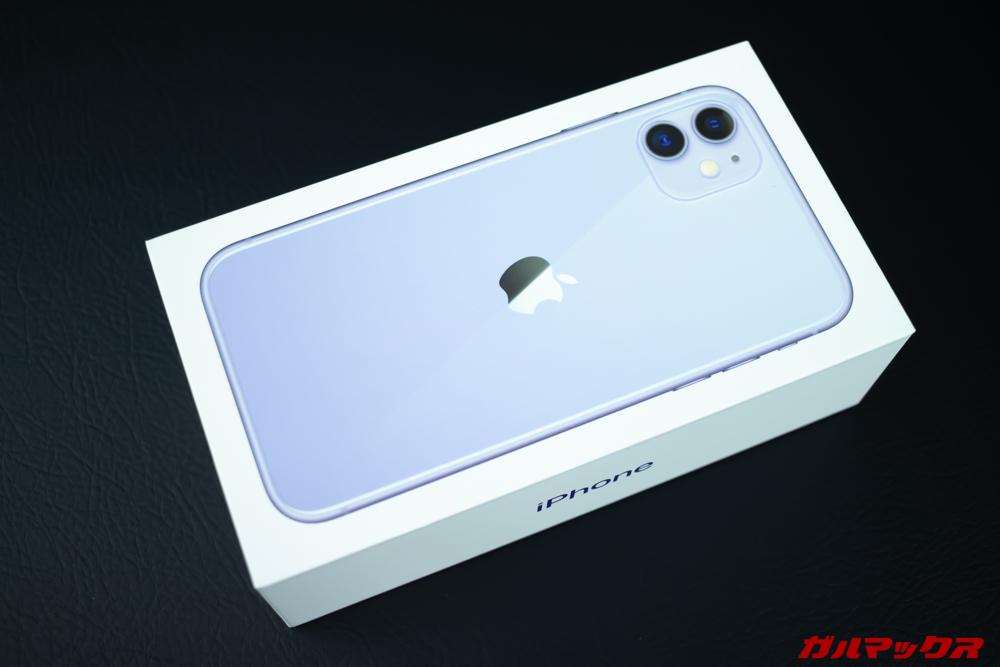 iPhone 11のパッケージはカラーが良く分かる箱