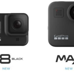 GoPro、新型アクションカメラ「HERO8 Black」「MAX」を予約受付開始。「HERO7」シリーズは値下げへ