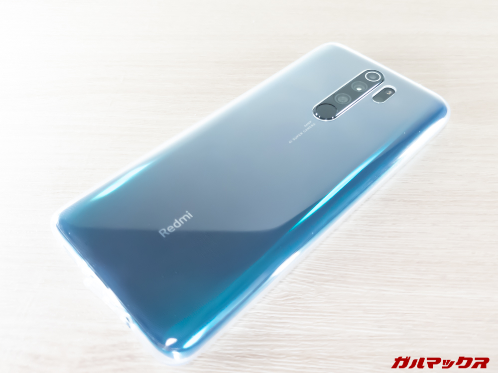 Redmi Note 8 Proに付属のTPUケースを装着
