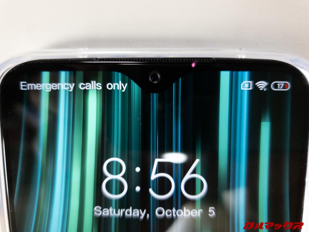 Xiaomi Redmi Note 8 Proのノッチ