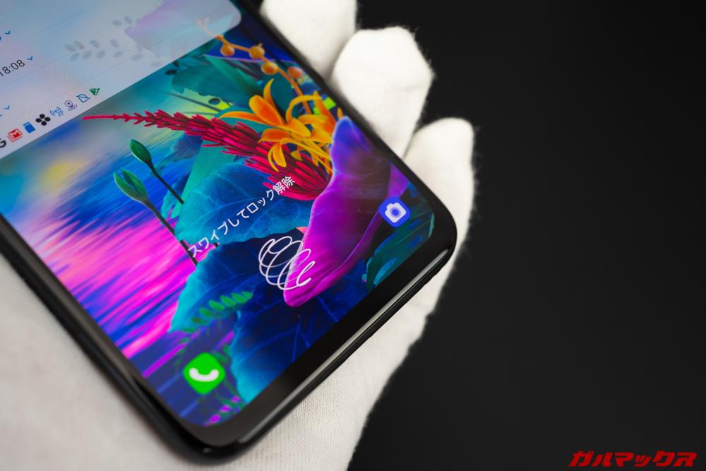 LG G8X ThinQは画面内蔵指紋センサーを搭載している