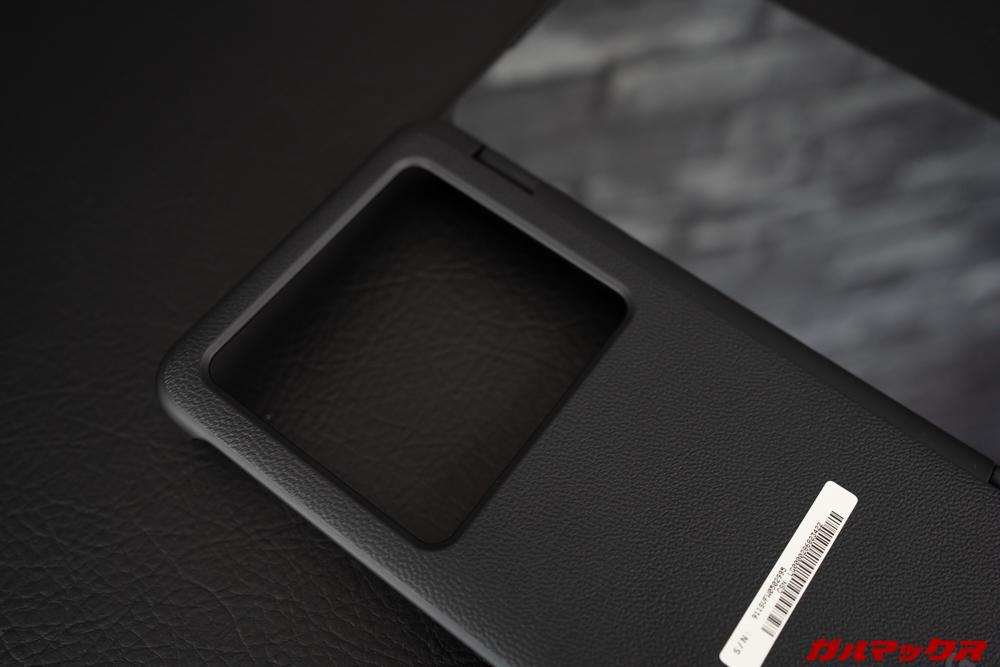 LG G8X ThinQの2画面ユニット背面は非常に大きな開口となっている。