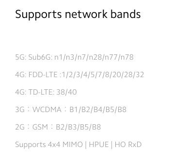 Xiaomi Mi10 グローバル版バンド