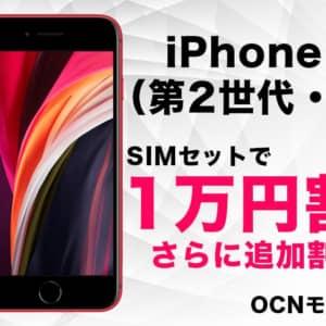 1万円引き。今iPhone SEを買うならAppleストアじゃなくOCNで音声SIMセット購入も良さげ