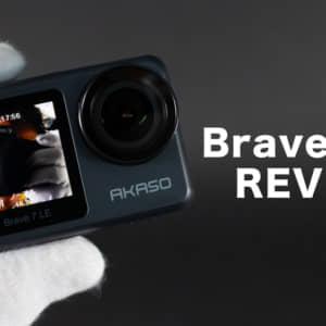 AKASO Brave 7 LEのレビュー!前面ディスプレイ搭載で自撮りしやすいアクションカメラ!