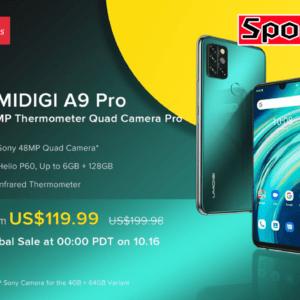 UMIDIGI A9 Proのスペックまとめ!赤外線体温計を搭載した約200ドルのミドルスマホ!