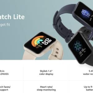 Xiaomi Mi Watch Liteが発表!GPS内蔵で最大9日間のバッテリー持ち。発売日は近日?