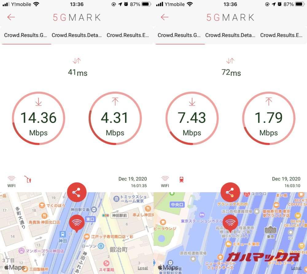 Rakuten Pocket WiFiの通信速度②