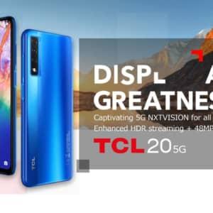 「TCL 20 5G」発表!動画ストリーミング重視のスマホ、発売日は1月頃