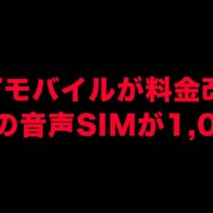 2GBの音声プランが1,000円で凄く安い!QTモバイルが値下げ!