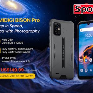 「UMIDIGI BISON Pro」発表!赤外線温度計搭載の格安タフネスモデル、7月26日から安売り予定