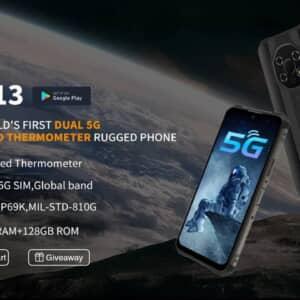 「OUKITEL WP13」発表!赤外線温度計搭載!ミドルハイ級の性能で約3万円のタフネススマホ
