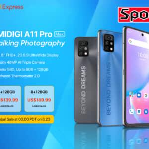 「UMIDIGI A11 Pro Max」発表!より改良された赤外線温度計を搭載、8月23日から安売り予定