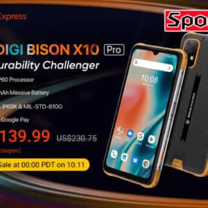 UMIDIGI「BISON X10」「X10 Pro」発表!IP69Kの頑丈タフネス機、Proは赤外線温度計を搭載