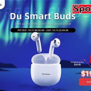 文字起こし機能付きワイヤレスイヤホン「Xiaodu DU Smart Buds」がセール開始!100台限定で20ドル!